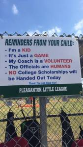 Little League sign